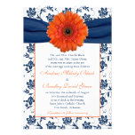 Invitación floral del boda de Gerber de la marina