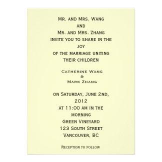 Invitación floral del boda de la bella arte del