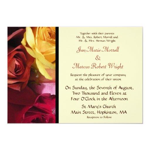 Invitación floral del boda de la caída