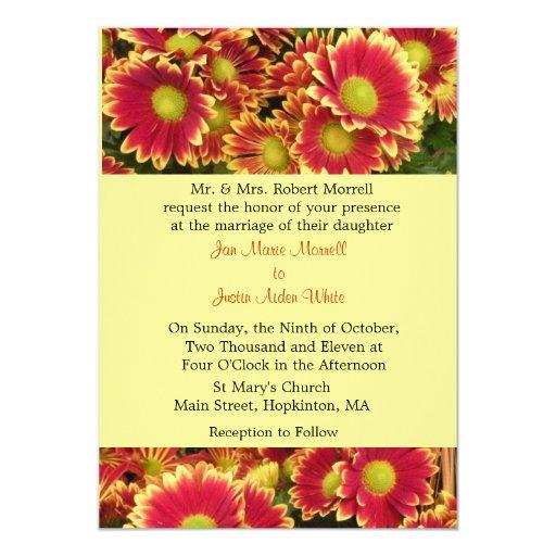 Invitación floral del boda de la caída del