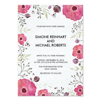 Invitación floral del boda de la flor del marco