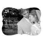 Invitación floral del boda de la foto