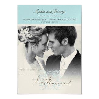 Invitación floral del boda de la foto del Flourish