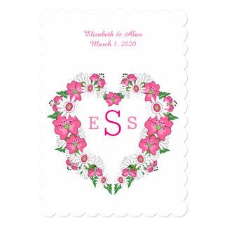 Invitación floral del boda de la guirnalda del