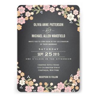 Invitación floral del boda de la guirnalda del jar