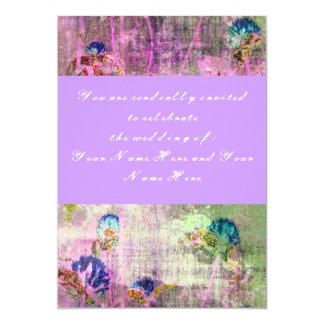 Invitación floral del boda de la lavanda