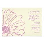 Invitación floral del boda de la lavanda y de la