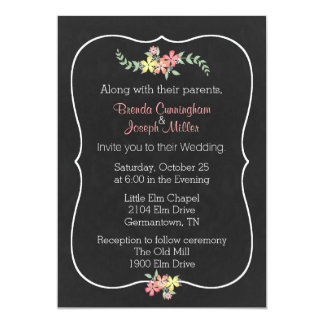Invitación floral del boda de la mirada de la