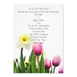 Invitación floral del boda de la primavera