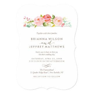 Invitación floral del boda de la rosaleda