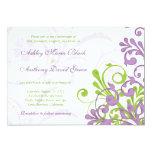 Invitación floral del boda de la verde lima