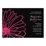 Invitación floral del boda de las rosas fuertes y