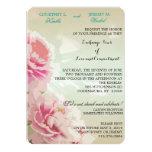 Invitación floral del boda de los Peonies rosados