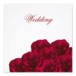 Invitación floral del boda de los rosas rojos