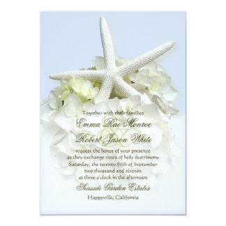 Invitación floral del boda del blanco de jardín de