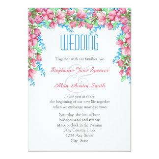 Invitación floral del boda del cenador de la