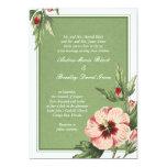 Invitación floral del boda del hibisco elegante