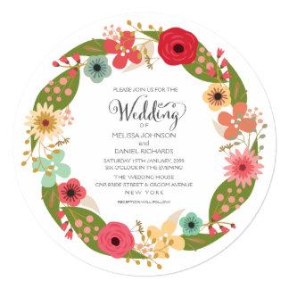 Invitación floral del boda del jardín de la