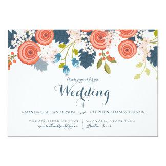 Invitación floral del boda del jardín salvaje