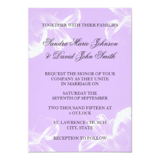 Invitación floral del boda del lirio tigrado