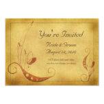 Invitación floral del boda del país del otoño del invitación 12,7 x 17,8 cm