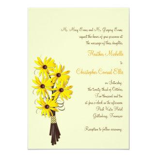 Invitación floral del boda del país rústico
