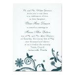 Invitación floral del boda del remolino del trullo