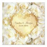 Invitación floral del boda del rosa blanco
