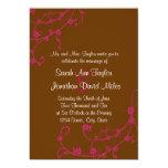 Invitación floral del boda del rosa y del remolino invitación 12,7 x 17,8 cm