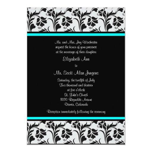 Invitación floral del boda del trullo de plata