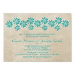 Invitación floral del boda del vintage del trullo