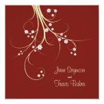Invitación floral del boda - elegante y simple invitación 13,3 cm x 13,3cm