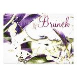 Invitación floral del brunch