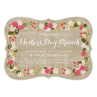 Invitación floral del brunch del día de madre de invitación 12,7 x 17,8 cm