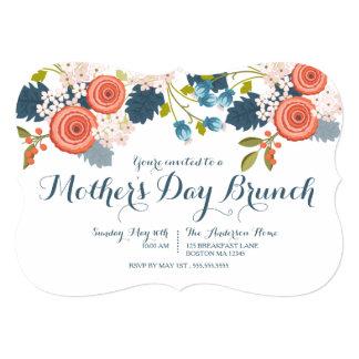 Invitación floral del brunch del día de madre del
