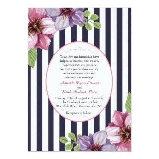 Invitación floral del camafeo