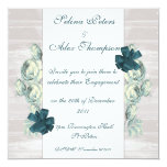Invitación floral del compromiso del trullo