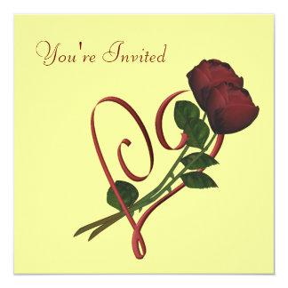 Invitación floral del cuadrado elegante del