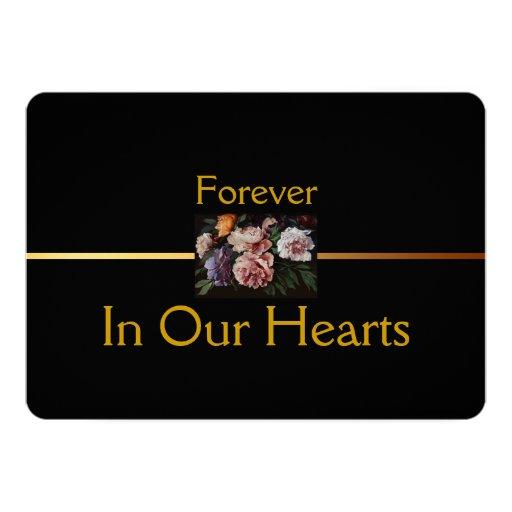 Invitación floral del entierro de la pintura 2 de