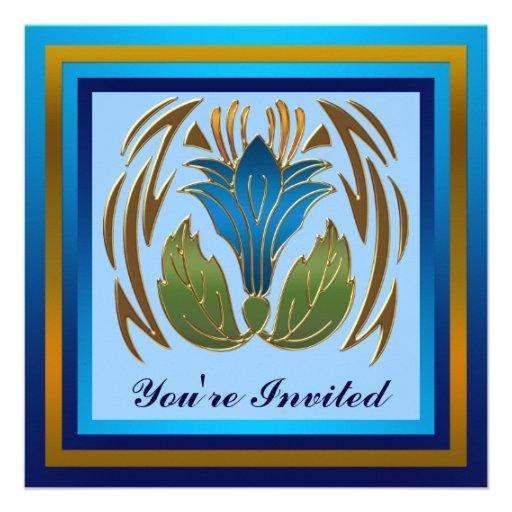 Invitación floral del fiesta de la flor
