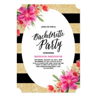 Invitación floral del fiesta del encanto el | invitación 12,7 x 17,8 cm