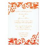 Invitación floral del naranja y blanca del boda invitación 12,7 x 17,8 cm