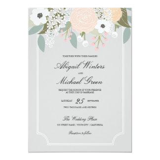 Invitación floral elegante del boda