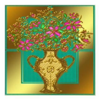 Invitación floral elegante del boda invitación 13,3 cm x 13,3cm