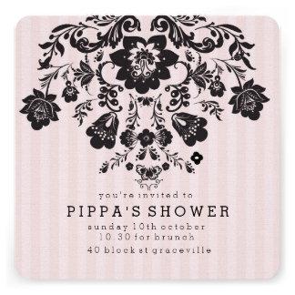 Invitación floral elegante parisiense de la ducha