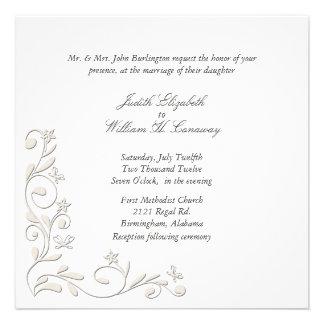 Invitación floral formal del boda del Flourish