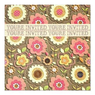 Invitación floral II de la fiesta de jardín