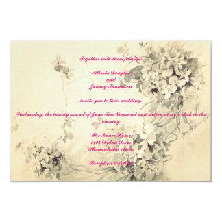 Invitación floral ligera del boda del vintage