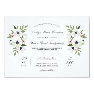 Invitación floral preciosa del boda