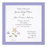 Invitación floral púrpura caprichosa del boda invitación 13,3 cm x 13,3cm